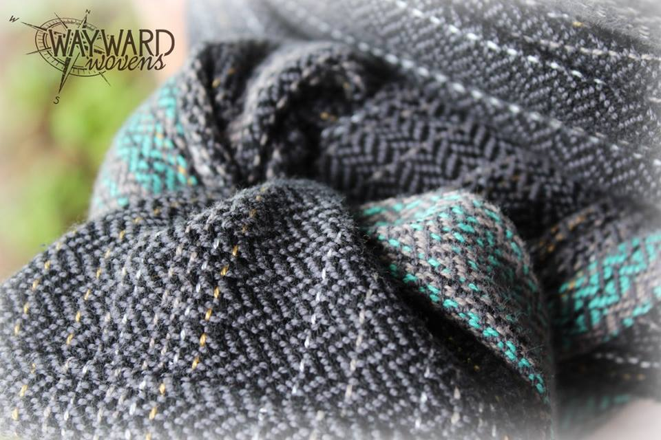 Woven wrap, knotted