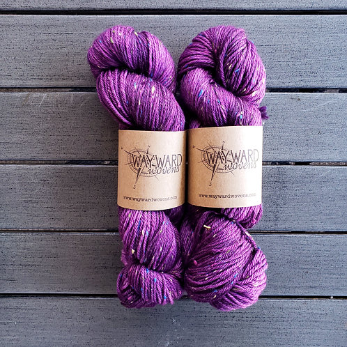 Plum Donegal - DK Superwash wool and colored Donegal Yarn