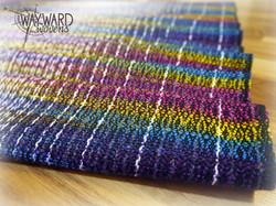 Rainbow weft, folded in pleats