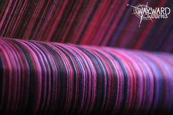 Warp threads on back beam