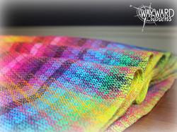 Wrap folded in pleats on a table