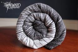 Grey weft, rolled wrap
