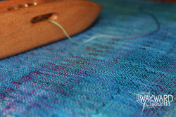 Woven cloth with shuttle