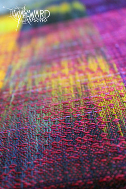 Woven cloth, pink weft
