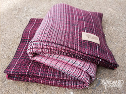 red weft, folded wrap