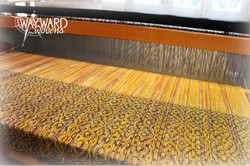 Weaving, black weft