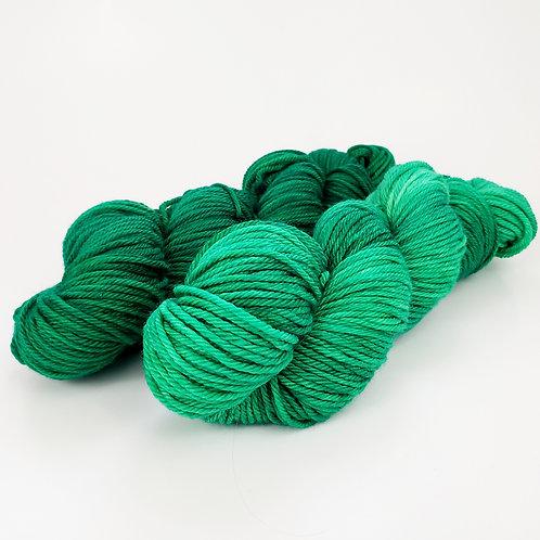 Emerald Green Tonal - Worsted Weight Superwash Wool yarn