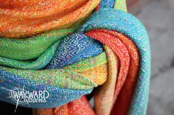 Speckled Marine silk weft