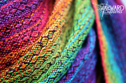 Ring sling, close up view of weave