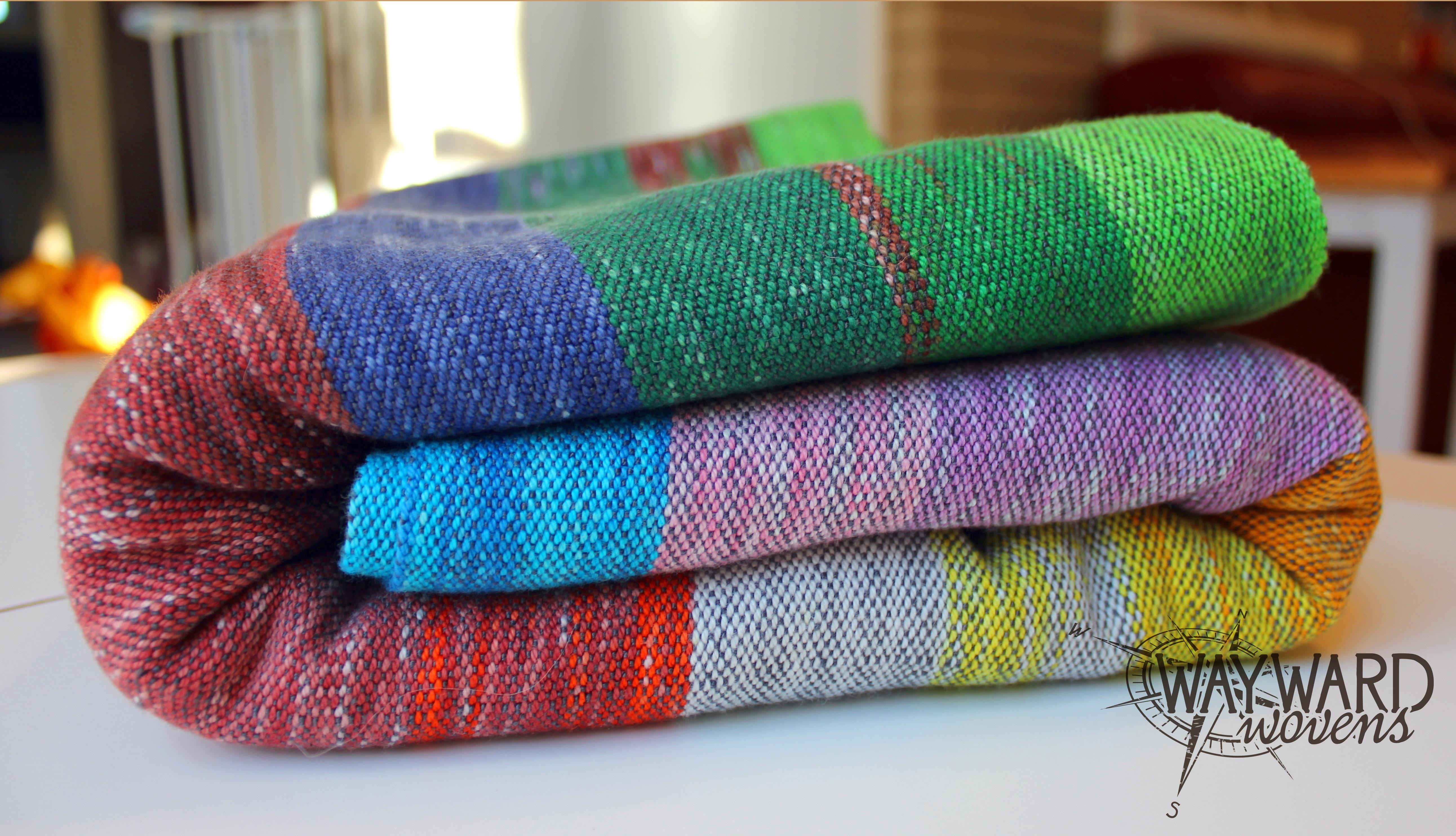 Woven wrap, folded