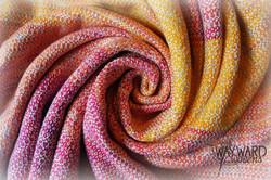Silk weft, swirled wrap