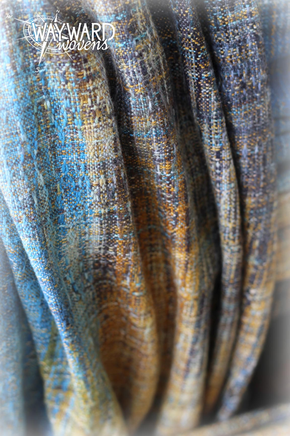 Woven wrap draped pleats, close up