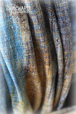 Woven wrap draped pleats, close up