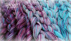 Hand dyed warp chains