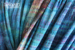 Woven cloth, gathered loose pleats