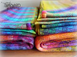 Close up of 2 folded wraps