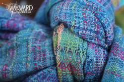 Woven cloth, knotted