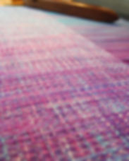 Hand dyed handwoven fabric