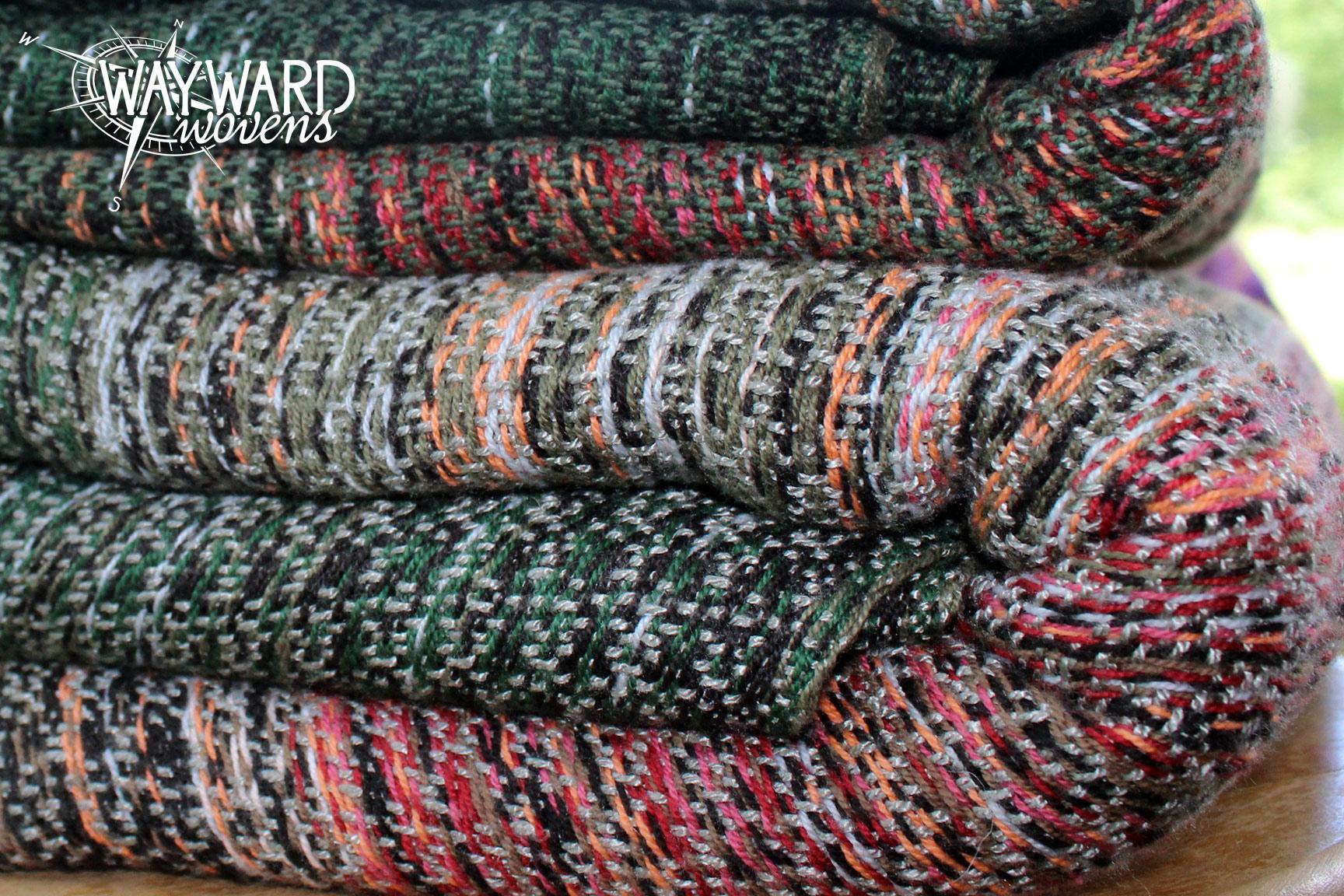 Woven wraps, folded