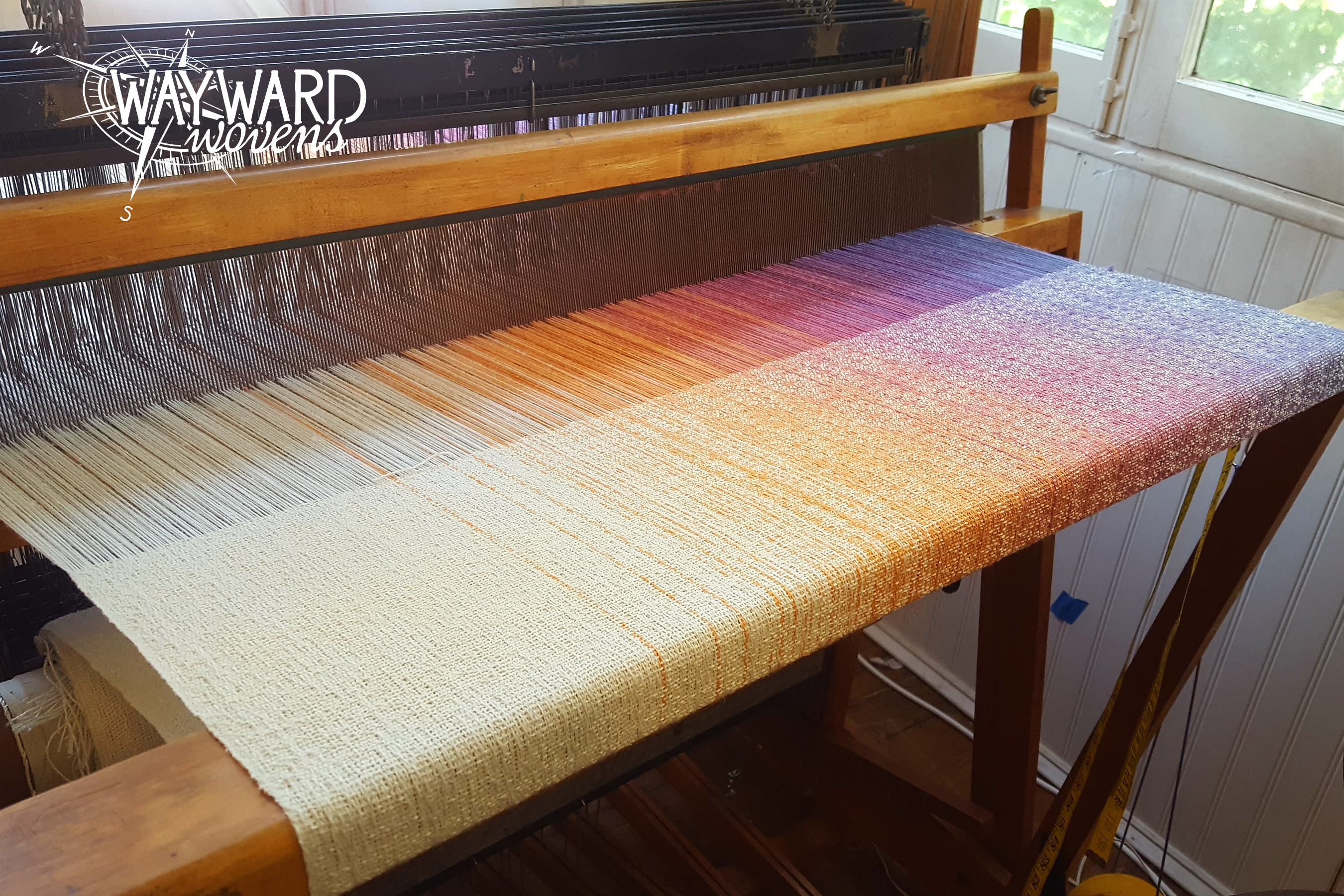 Woven cloth on loom