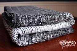 Grey weft, folded wrap