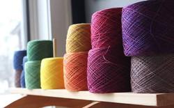 Hand dyed balls of yarn