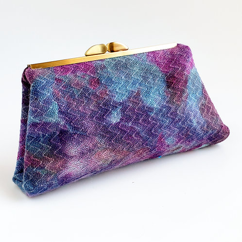 Handwoven Clutch - Ice Dyed