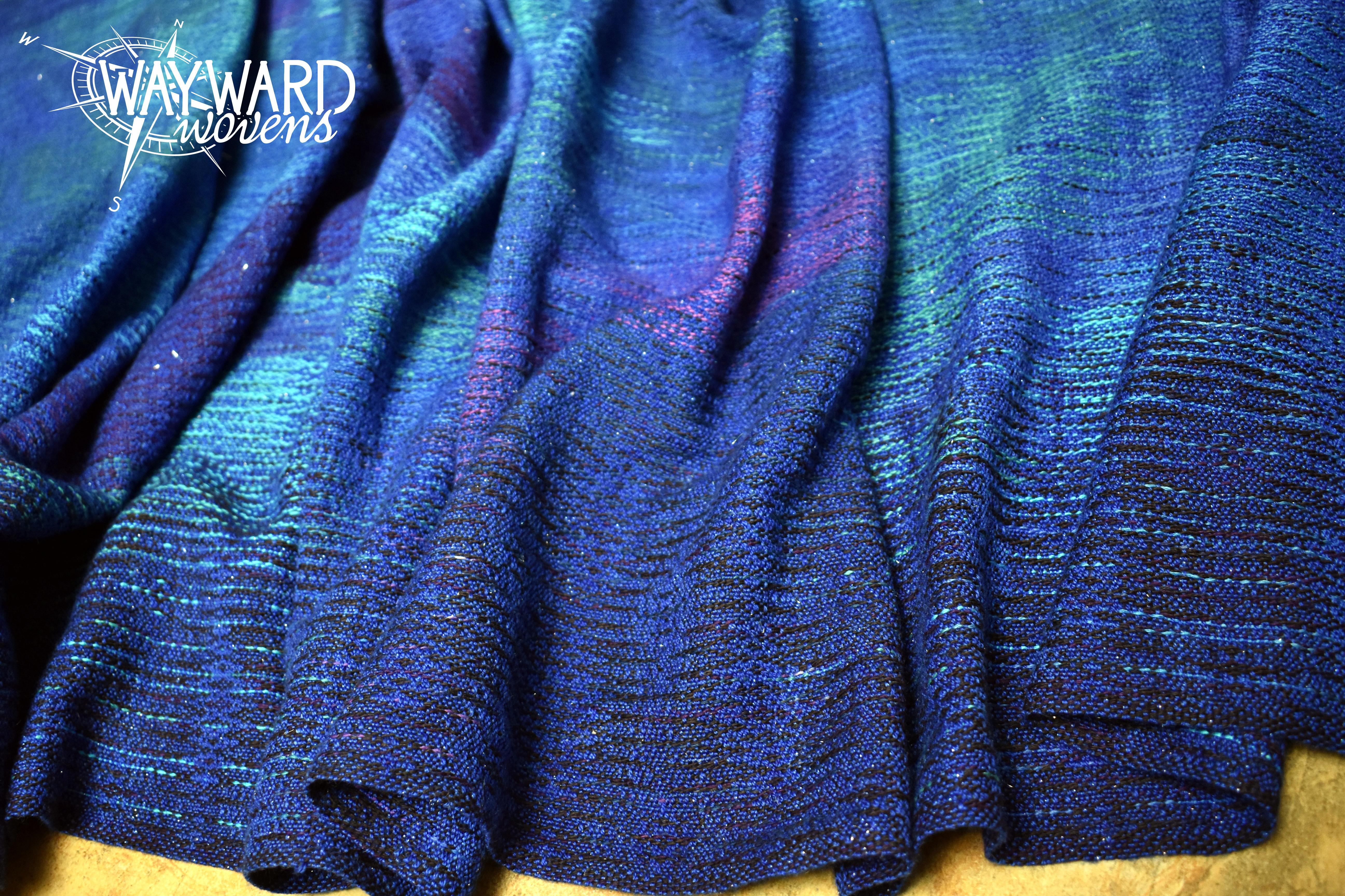 Wool/silk/stellina weft