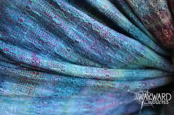 Woven cloth, gathered drape