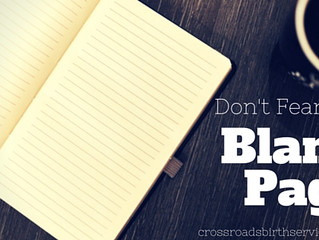 Don't Fear the Blank Page