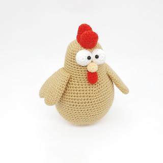crochet amigurumi hen chicken pattern toy