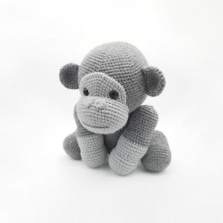 crochet amigurumi gorilla jungle animal pattern