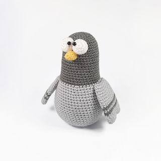 Crochet amigurumi pigeon dove pattern my amigurumi farm