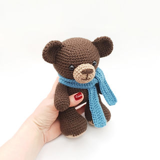 crochet amigurumi bear woodland forest animal pattern