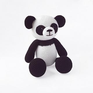 crochet amigurumi panda bear woodland forest animal pattern