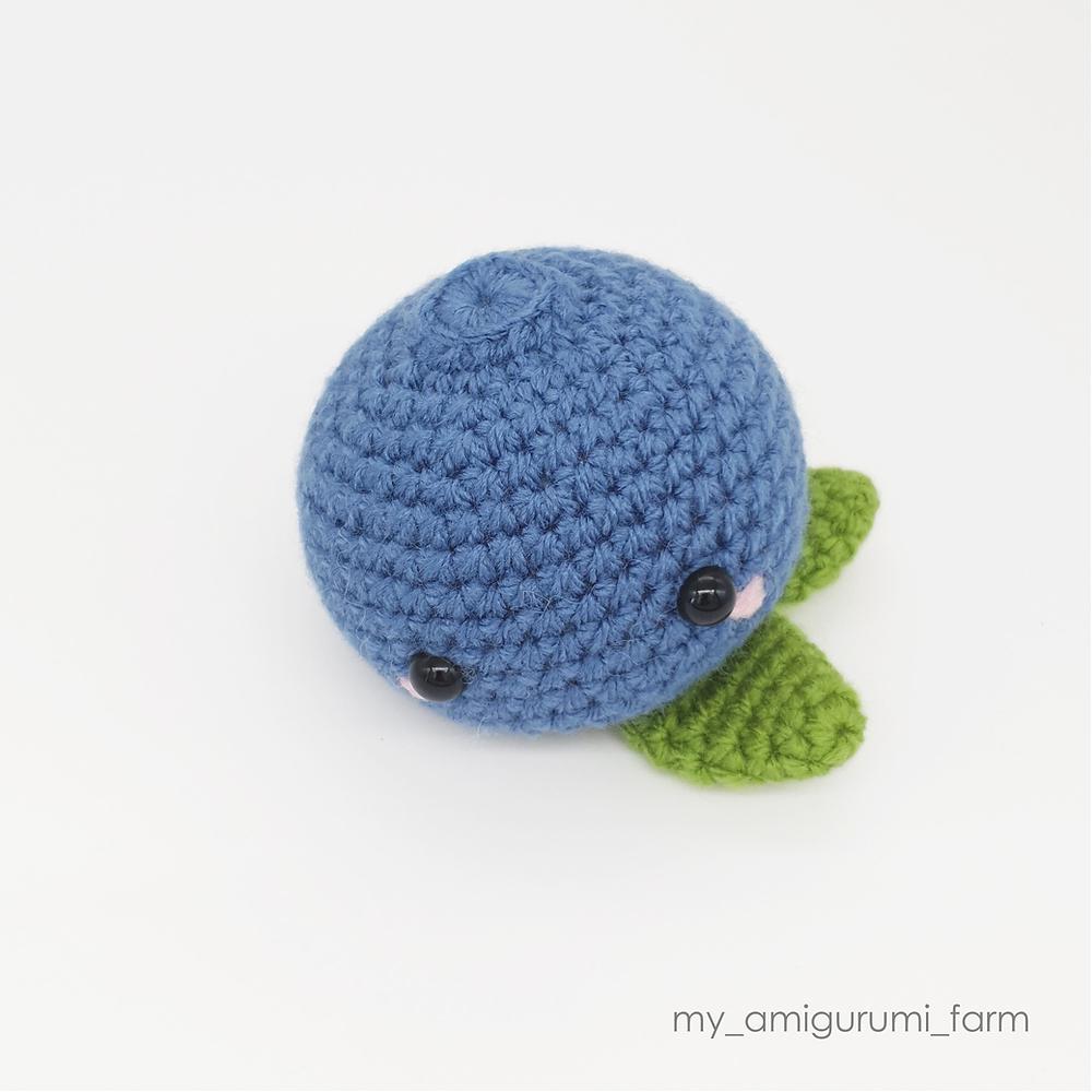 free crochet amigurumi blueberry fruit food pattern my amigurumi farm easy