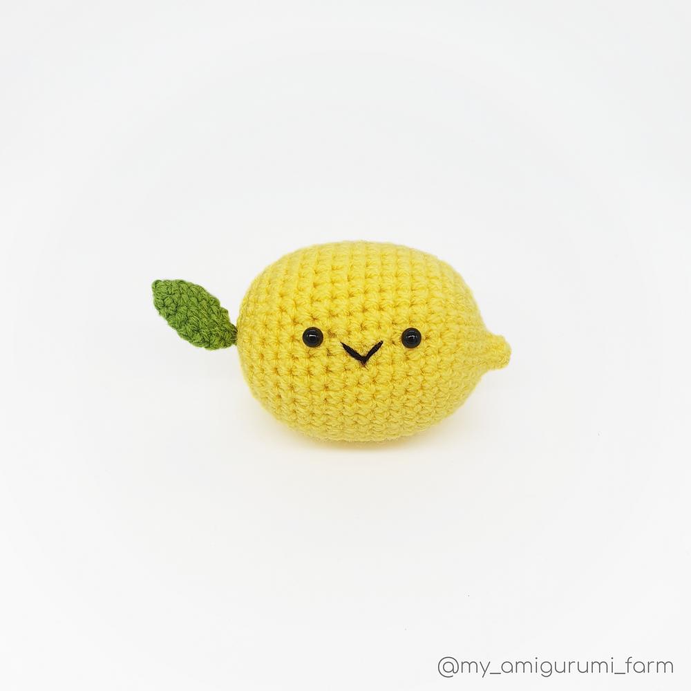 free crochet lemon pattern amigurumi fruit