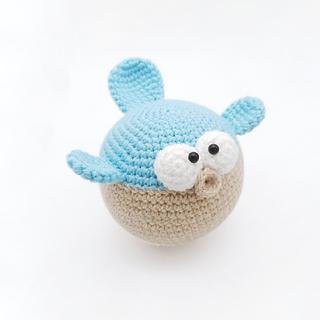 crochet amigurumi pufferfish sea creature pattern