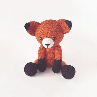 crochet amigurumi fox forest woodland animal pattern toy