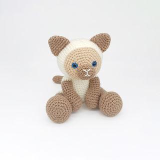 crochet amigurumi Siamese cat kitten home pet pattern