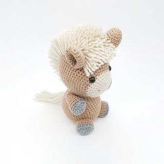 crochet amigurumi farm animal horse pattern toy