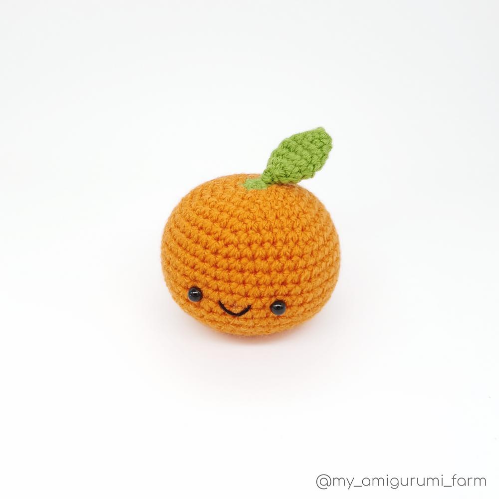 free crochet mandarin fruit orange amigurumi pattern