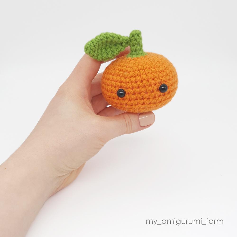 free crochet amigurumi satsuma tangerine mandarin fruit food pattern easy