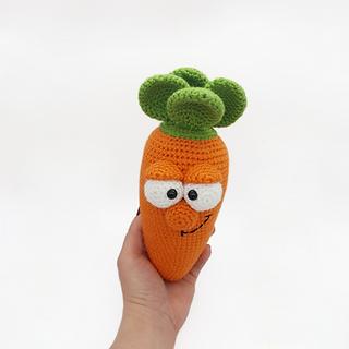 crochet amigurumi carrot pattern
