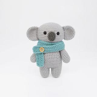 crochet amigurumi small koala bear pattern forest woodland animal my amigurumi farm easy