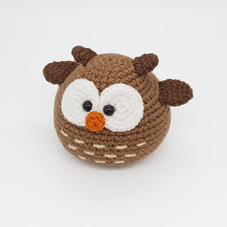 crochet amigurumi owl woodland forest animal bird pattern