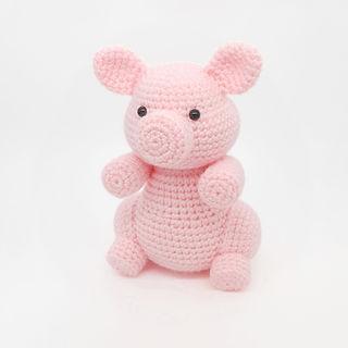 crochet amigurumi pig farm animal pattern toy