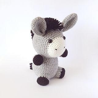 crochet amigurumi donkey farm animal pattern toy