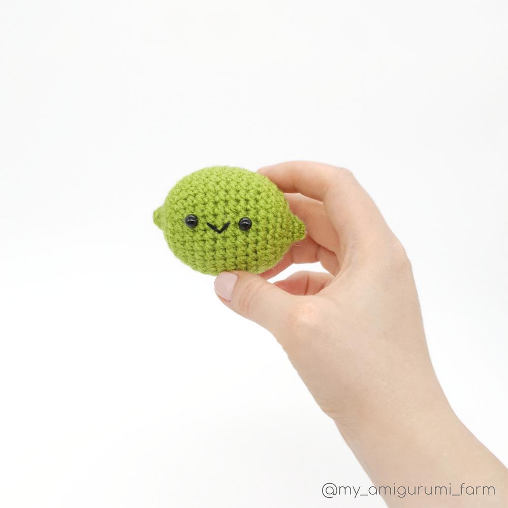 free crochet amigurumi lime pattern