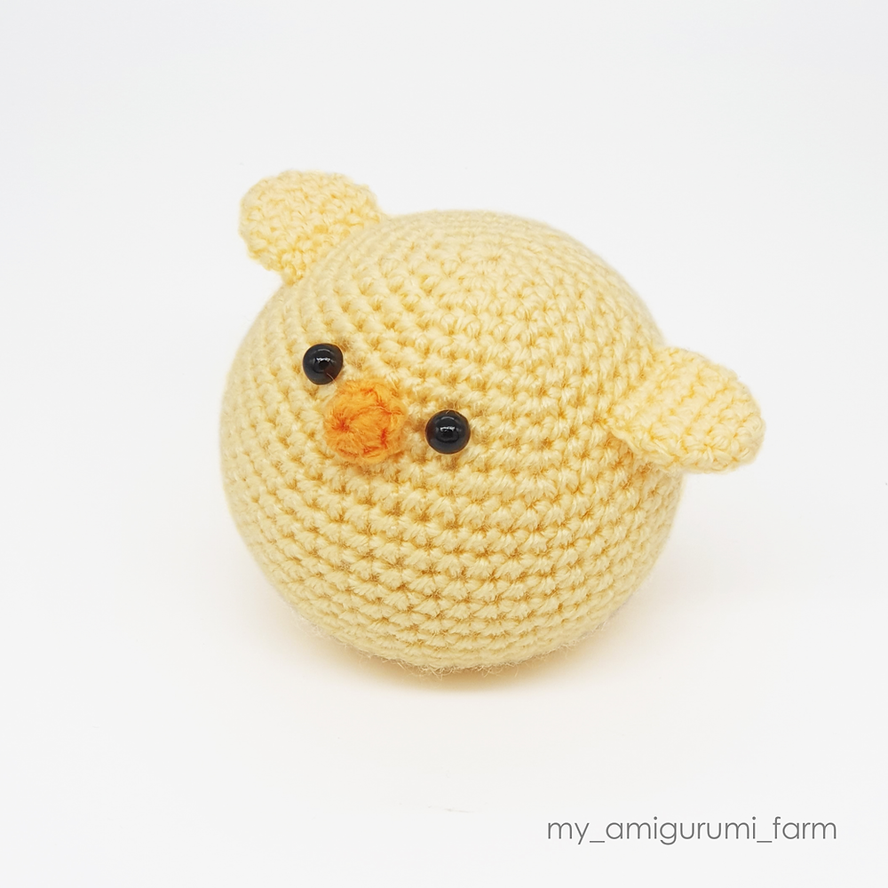 free crochet amigurumi spring chicken pattern easy